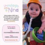«Un milagro para Nina» es la consigna para ayudar a una bebé roldanense